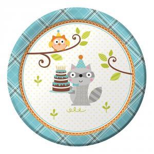 Happi Woodland Boy Lunch Plates 17 cm