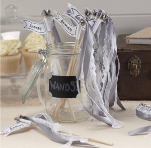 Silver Wedding Wands - Vintage Affair