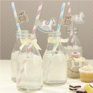 Paper Straws with Flags - Rock-a-bye Baby