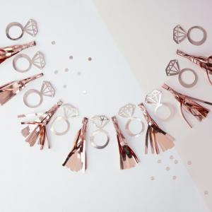 Rose Gold Foiled Ring Tassel Garland - Team Bride