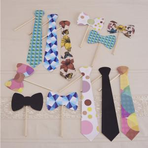 Ties & Bowties Photo Booth Party Props - Vintage Affair