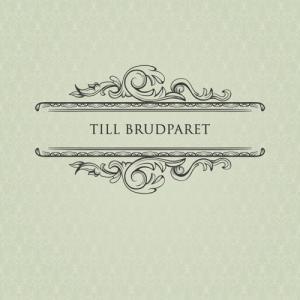 """""""Till brudparet"""" textkort - litet"""