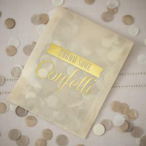 Tissue Confetti Envelopes Gold - Vintage Affair