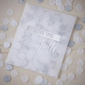 Tissue Confetti Envelopes Silver - Vintage Affair
