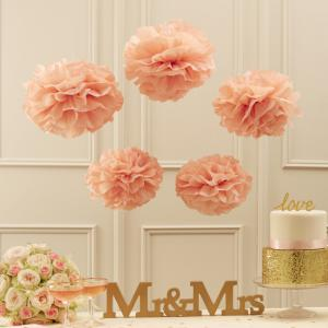 Tissue Paper Pom Poms Pastel Pink - Pastel Perfection