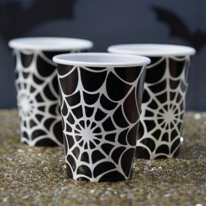 Spider Web Halloween Paper Cups - Trick Or Treat