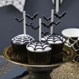 Halloween Bat Cupcake Toppers - Trick Or Treat