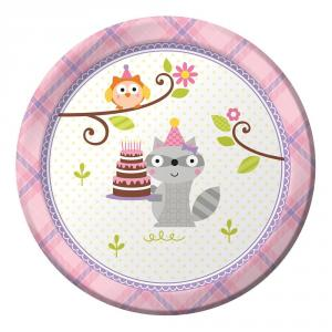 Happi Woodland Girl Lunch Plates 17 cm