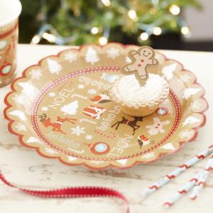 Christmas Paper Plates - Vintage Noel