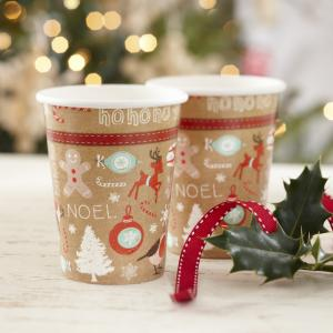 Christmas Paper Cups - Vintage Noel