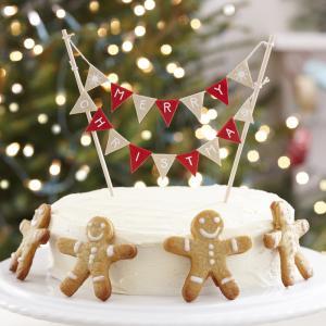 Christmas Cake Bunting - Vintage Noel