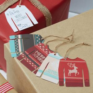 Christmas Jumper Tags - Vintage Noel
