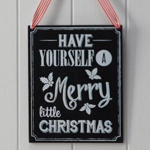 Wooden Chalkboard Very Merry Christmas Sign - Vintage Noel