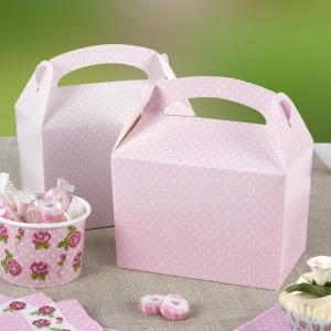 Polka Dot Lunch Box - Pink