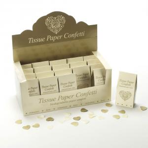Tissue Paper Confetti - Vintage Romance Ivory & Gold
