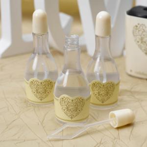 Ivory Tipped Wedding Bubbles - Vintage Romance Ivory & Gold