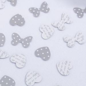 Table Confetti - Chic Boutique White & Silver
