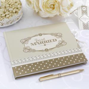 Guest Book - Chic Boutique Ivory & Gold