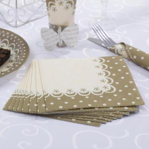 Napkins - Chic Boutique Ivory & Gold
