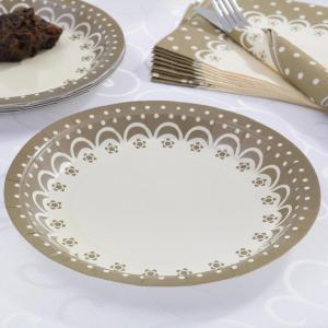 Plates - Chic Boutique Ivory & Gold