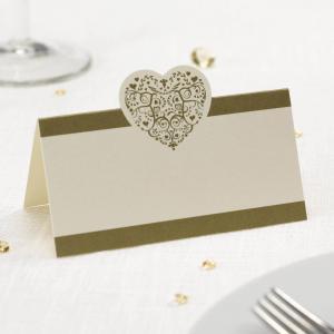 Place Cards - Vintage Romance Ivory & Gold