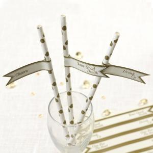 Straw Flags - Vintage Romance Ivory & Gold