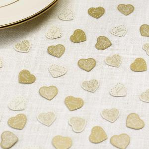 Table Confetti - Vintage Romance Ivory & Gold
