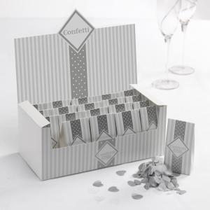 Tissue Paper Confetti - Chic Boutique White & Silver