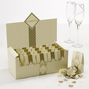 Tissue Paper Confetti - Chic Boutique Ivory & Gold
