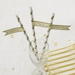 Straw Flags - Chic Boutique Ivory & Gold