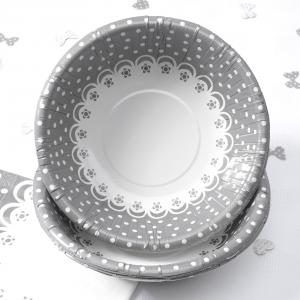 Bowls - Chic Boutique White & Silver