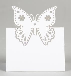 10 Butterfly Place Cards - placeringskort