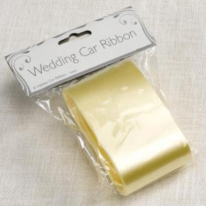 Ivory Wedding Car Ribbon