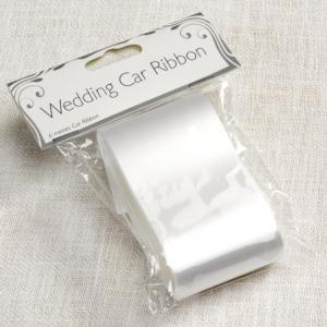 White Wedding Car Ribbon