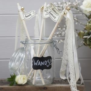 Ivory & White Wedding Wands - Vintage Affair