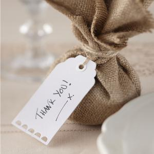 White Luggage Tags - Vintage Affair