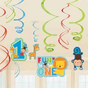 Wild at One Birthday Boy - Hanging Swirls