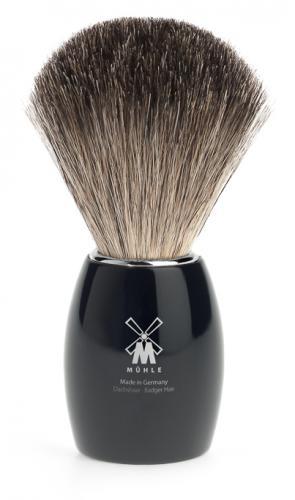 Mühle - Rakborste Pure Badger, Modern Resin Svart
