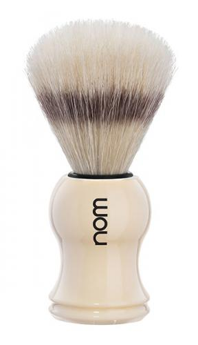 Nom - Gustav Shaving Brush Pure Bristle - Creme