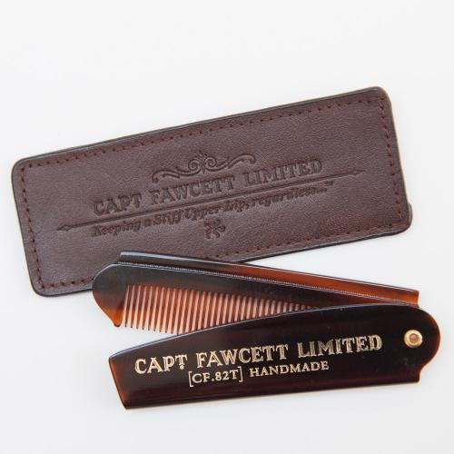 Captain Fawcett -Pocket Beard Comb med fodral