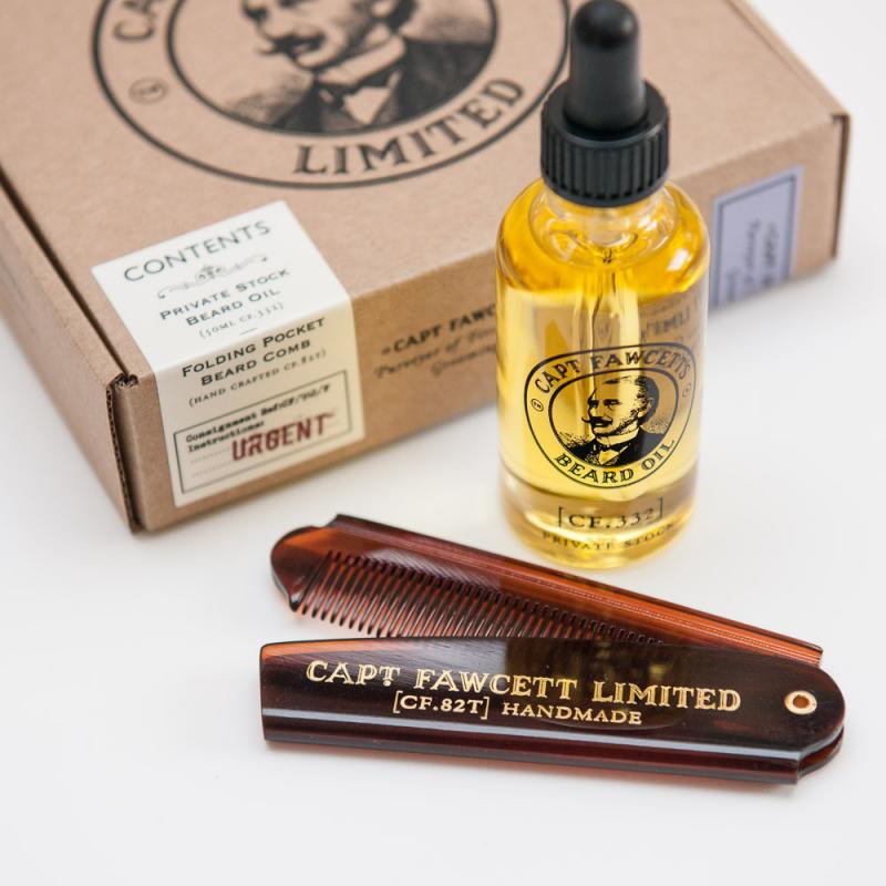 Captain Fawcett - Beard Oil & Beard Comb Set
