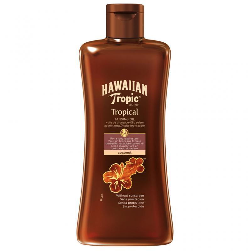 Hawaiian Tropic - Tanning Oil Dark 200 ml (Utan Solskydd)