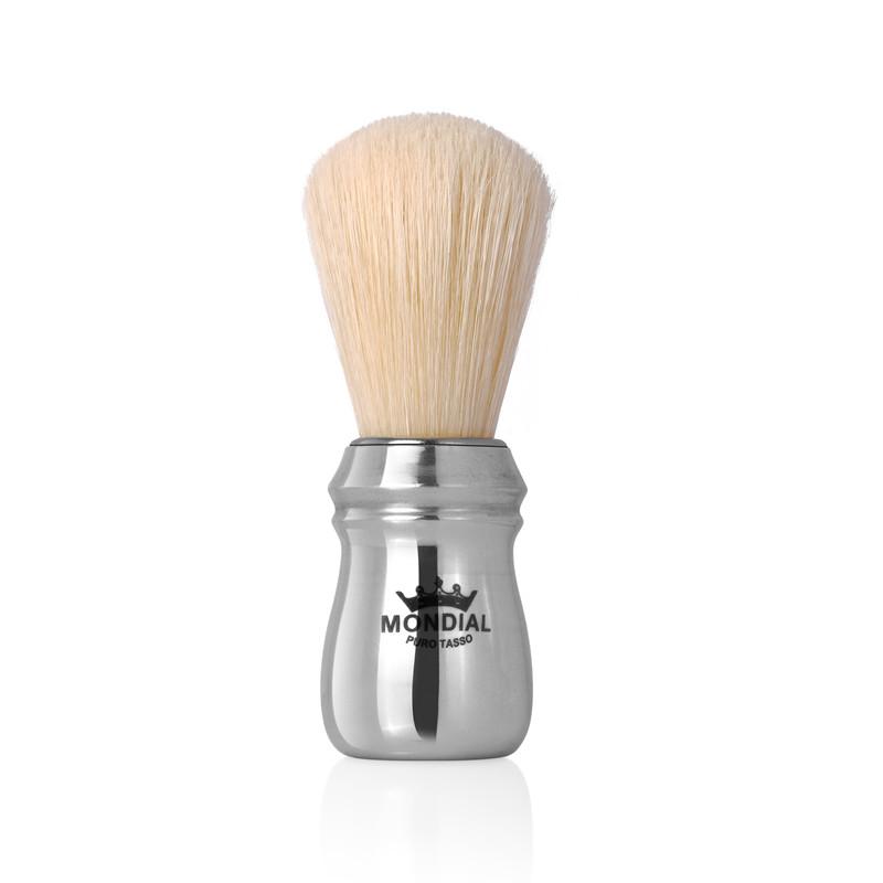 Mondial 1908 - Boar Shaving Brush Polished Aluminium