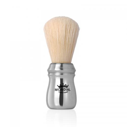 Mondial 1908 - Boar Shaving Brush Polished Aluminium