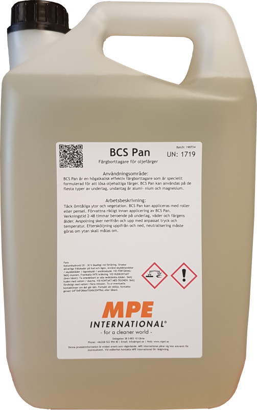 BCS Pan, Färgborttagare