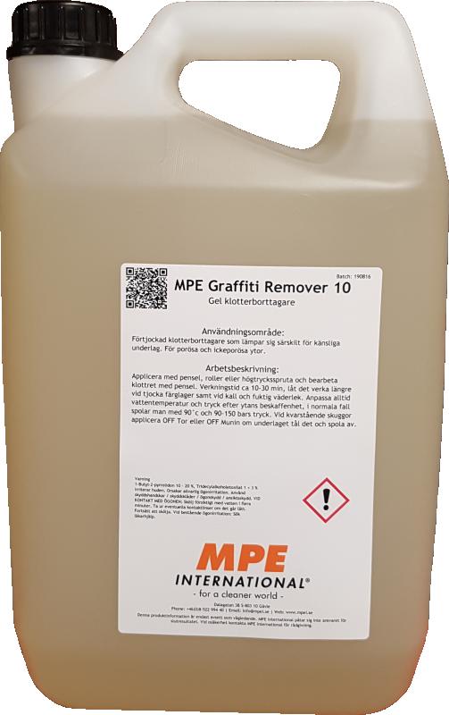 MPE Graffiti Remover 10, Gel