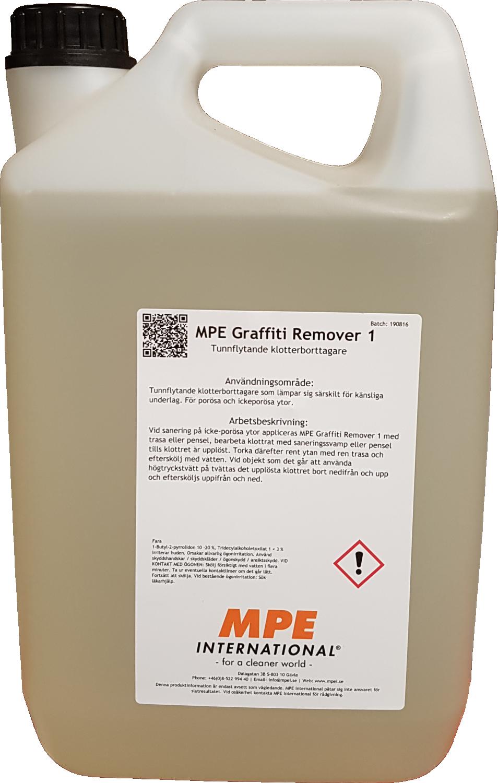 MPE Graffiti Remover 1, Tunnflytande