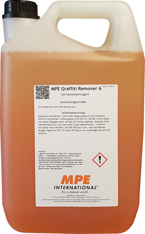 MPE Graffiti Remover 6, förtjockad klotterborttagare