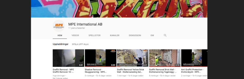 Vår YouTube-kanal