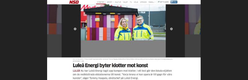 Luleå Energi vill spara pengar på klottersaneri...